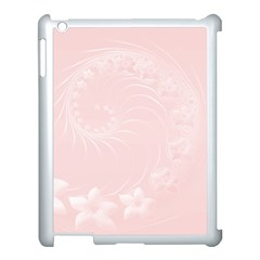 Light Pink Abstract Flowers Apple iPad 3/4 Case (White)