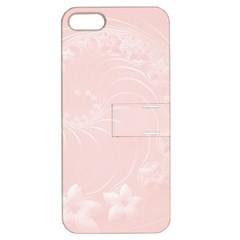 Light Pink Abstract Flowers Apple iPhone 5 Hardshell Case with Stand