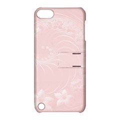 Light Pink Abstract Flowers Apple Ipod Touch 5 Hardshell Case With Stand