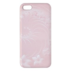 Light Pink Abstract Flowers Iphone 5 Premium Hardshell Case
