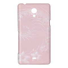 Light Pink Abstract Flowers Sony Xperia T Hardshell Case