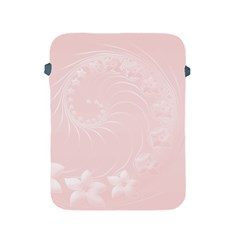 Light Pink Abstract Flowers Apple iPad 2/3/4 Protective Soft Case