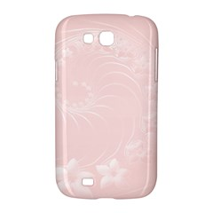 Light Pink Abstract Flowers Samsung Galaxy Grand GT-I9128 Hardshell Case