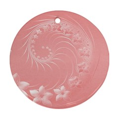 Pink Abstract Flowers Round Ornament