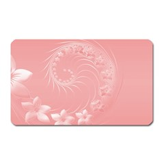 Pink Abstract Flowers Magnet (rectangular)