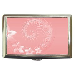 Pink Abstract Flowers Cigarette Money Case
