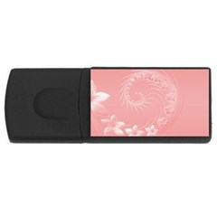 Pink Abstract Flowers 1GB USB Flash Drive (Rectangle)