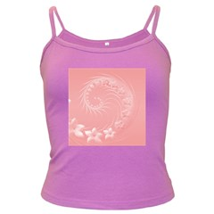 Pink Abstract Flowers Spaghetti Top (colored)