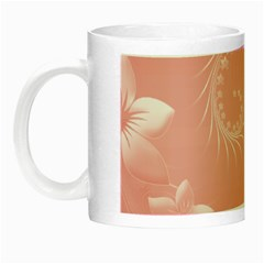Pink Abstract Flowers Glow in the Dark Mug