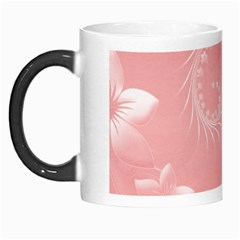 Pink Abstract Flowers Morph Mug