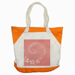 Pink Abstract Flowers Accent Tote Bag