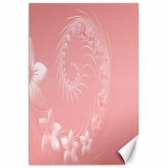 Pink Abstract Flowers Canvas 20  x 30  (Unframed)