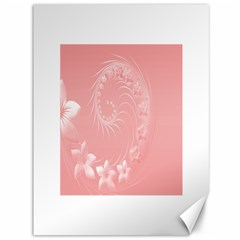 Pink Abstract Flowers Canvas 36  x 48  (Unframed)