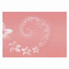 Pink Abstract Flowers Glasses Cloth (large)