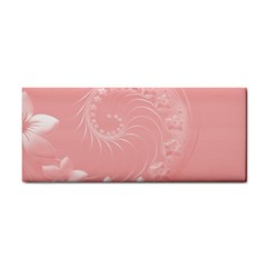 Pink Abstract Flowers Hand Towel