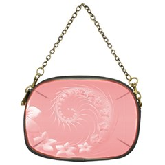 Pink Abstract Flowers Chain Purse (One Side)