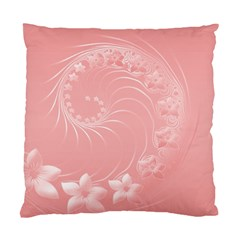 Pink Abstract Flowers Cushion Case (Two Sides)