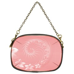Pink Abstract Flowers Chain Purse (Two Side)