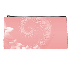 Pink Abstract Flowers Pencil Case