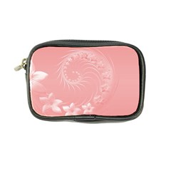 Pink Abstract Flowers Coin Purse