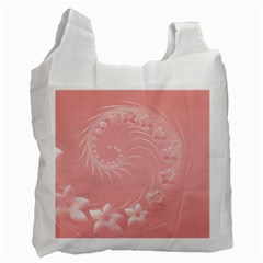 Pink Abstract Flowers Recycle Bag (two Sides)