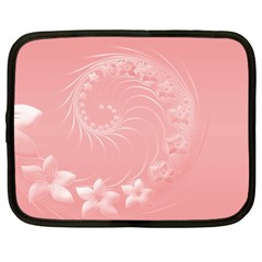 Pink Abstract Flowers Netbook Case (XL)
