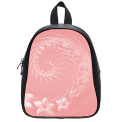 Pink Abstract Flowers School Bag (Small)