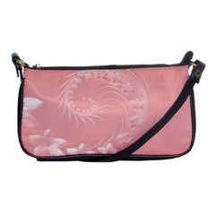 Pink Abstract Flowers Evening Bag