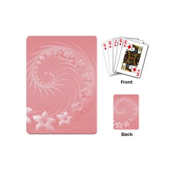 Pink Abstract Flowers Playing Cards (mini)