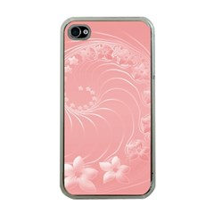 Pink Abstract Flowers Apple iPhone 4 Case (Clear)