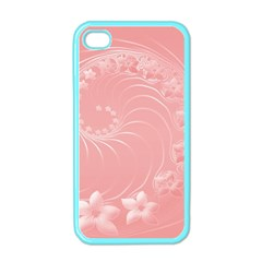 Pink Abstract Flowers Apple iPhone 4 Case (Color)