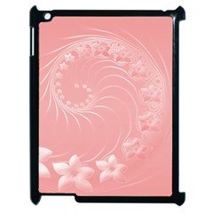 Pink Abstract Flowers Apple iPad 2 Case (Black)