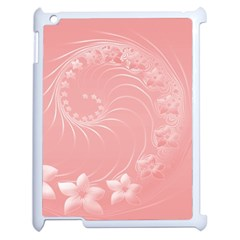 Pink Abstract Flowers Apple iPad 2 Case (White)