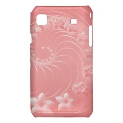 Pink Abstract Flowers Samsung Galaxy S i9008 Hardshell Case