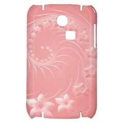 Pink Abstract Flowers Samsung S3350 Hardshell Case