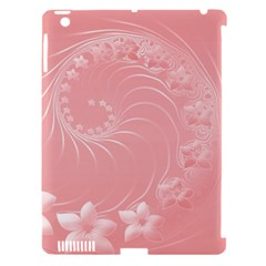 Pink Abstract Flowers Apple iPad 3/4 Hardshell Case (Compatible with Smart Cover)