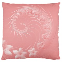 Pink Abstract Flowers Large Cushion Case (one Side)