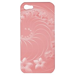 Pink Abstract Flowers Apple iPhone 5 Hardshell Case