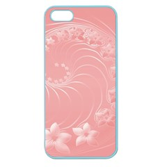 Pink Abstract Flowers Apple Seamless iPhone 5 Case (Color)