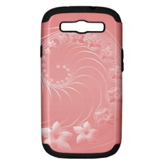 Pink Abstract Flowers Samsung Galaxy S Iii Hardshell Case (pc+silicone)