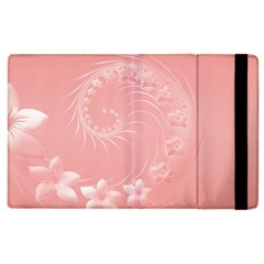 Pink Abstract Flowers Apple iPad 2 Flip Case
