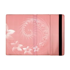 Pink Abstract Flowers Apple Ipad Mini Flip Case