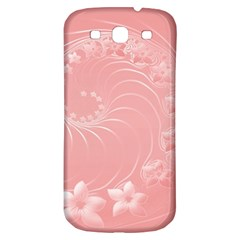 Pink Abstract Flowers Samsung Galaxy S3 S III Classic Hardshell Back Case