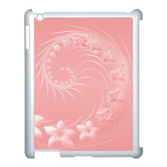 Pink Abstract Flowers Apple Ipad 3/4 Case (white)