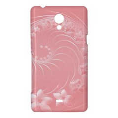 Pink Abstract Flowers Sony Xperia T Hardshell Case