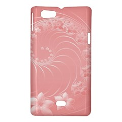 Pink Abstract Flowers Sony Xperia Miro Hardshell Case