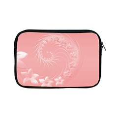 Pink Abstract Flowers Apple iPad Mini Zipper Case