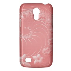 Pink Abstract Flowers Samsung Galaxy S4 Mini Hardshell Case