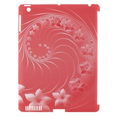 Light Red Abstract Flowers Apple Ipad 3/4 Hardshell Case (compatible With Smart Cover)
