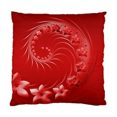 Red Abstract Flowers Cushion Case (One Side)